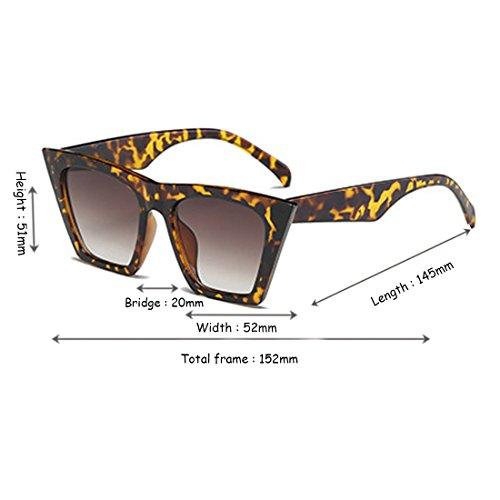 Yefree Retro Cat Oval de marco Style plástico Frijol Flor Vintage Women Sunglasses Eye Lens UqwrUEH