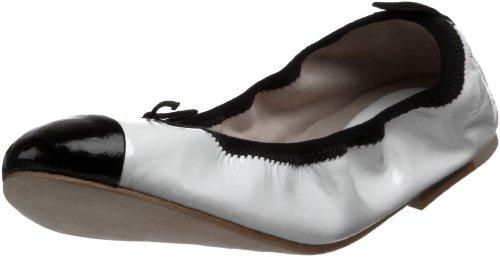 Bloch Londen Dames Lux Ballet Plat Wit / Zwart