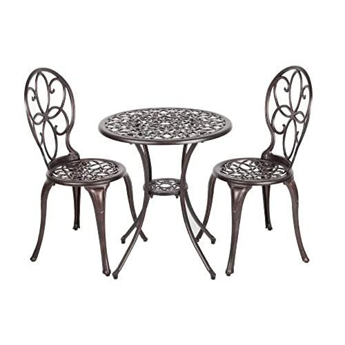cafe table and chairs amazon com