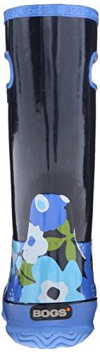 Filles bögs Bleu marine Multi Fleur de coffre imperméable léger et bottes bottes de pluie 71927