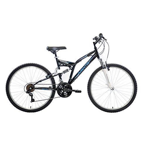 Mantis Ghost Full Suspension Mountain Bike, 26 inch Wheels, 18 inch Frame, Men's Bike, Black