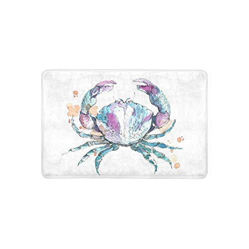 SPXUBZ Brown Crab On Blue Wooden Table Non Slip Entrance Rug Outdoor/Indoor Durable and Waterproof Machine Washable Door mat Size:23.6x15.7 inch (Red Perfume Bench)