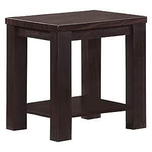 Jiwa Berani Linda 2 Side Table, Wenge - 45H x 45W x 55D cm
