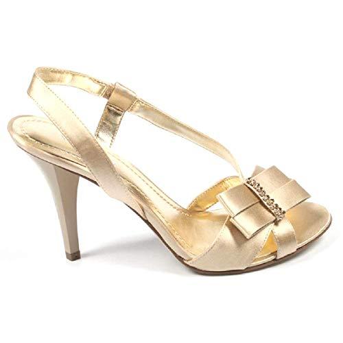 Nwelsia Nine Donna Sandali Cm Fionda Indietro 9 West Tacco Light Gold XwwB6qTxU
