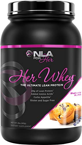 NLA for Her- Her Whey- Lean Whey Isolate Protein for Women-Added Amino Acids for Recovery, Builds Muscle, Curbs Appetite- 5 Flavor Choices - 2 lbs ... (Blueberry Muffin)
