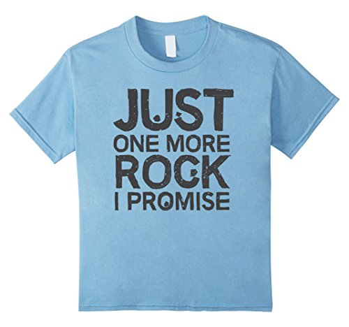 Kids Geology T-Shirt Just One More Rock I Promise Geologist Gift 8...