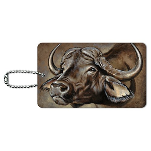 Cape African Buffalo Luggage Card Suitcase Carry-On ID Tag ()