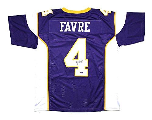 Signed Brett Favre Jersey - Purple Custom - Autographed NFL Jerseys