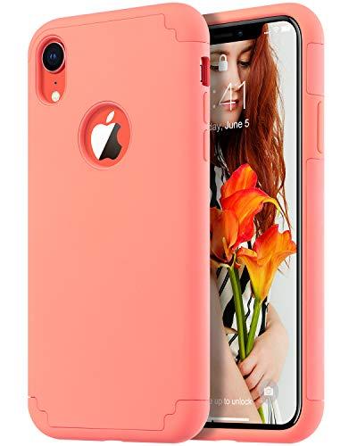 ULAK iPhone XR Case Orange, Slim Fit Hybrid Soft Silicone Hard Back Cover Anti Scratch Bumper Design Protective Case for Apple iPhone XR 6.1 inch 2018, Orange