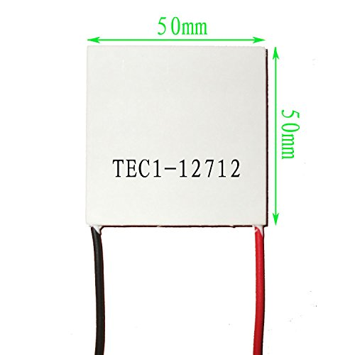 LIPOVOLT TEC1-12712 50x50mm 12V Thermoelectric Cooler Heat Sink Cooling Peltier Module