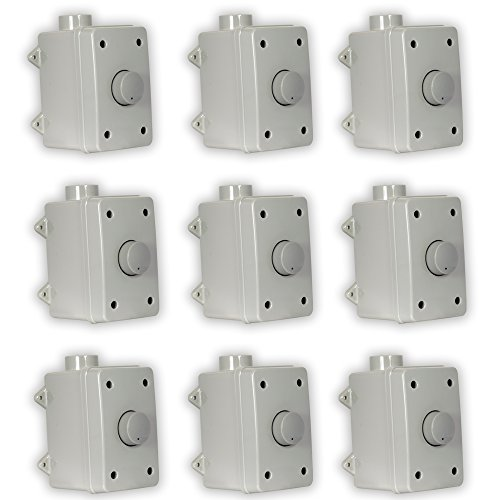 Theater Solutions OVCDG Outdoor Volume Controls Gray Weatherproof Dial 9 Control Set by Theater Solutions