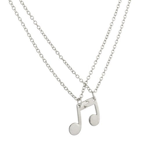 Lux Eighth Note Music Symbol BFF Best Friends Forever Necklace Set (2 PC).