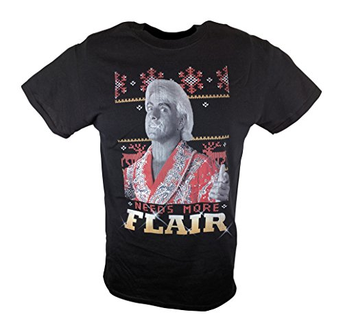 Ric Flair Needs More Christmas Flair WWE Mens Black T-shirt-XL by WWE