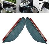 Rearward Perspective Brow - Pair Car Mirror Shade Rainproof Blade - Set Scene Bottom Horizon Ass Eyeshot Seat Sentiment Arse Watch Stern Purview Tail Opinion - 1PCs