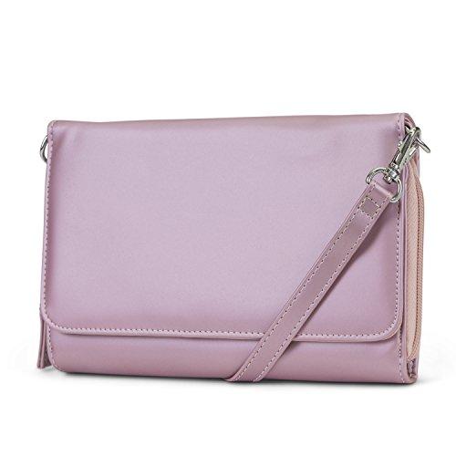 Handbag Travel Purse Women Bag Mundi Leather Theft RFID For Vegan Rose Wallet Anti Crossbody zgnn04xS8