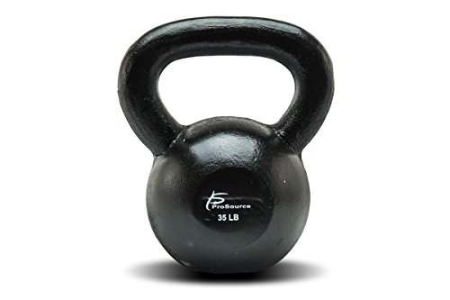 ProSource Solid Cast Iron Kettlebells Weights for Full Body Workout, 35 pounds For Sale