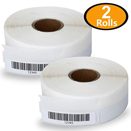 2 Rolls Dymo 30346 Compatible 1/2 x 1-7/8(13mm x 47mm) Multipurpose Library Barcode Labels,BPA Free