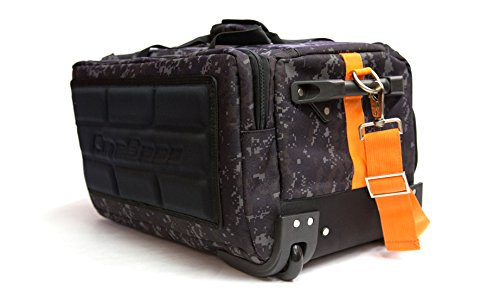 CineBags Rolling Camera Bag, Black and Charcoal Camouflage, Full-Size (CB40 High Roller Black Camo)