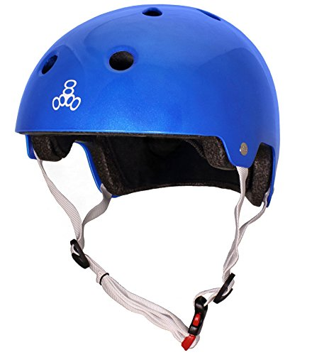 blue Brainsaver 8 metallic Casco ciclismo da Triple wSqYZZ