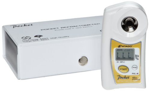 Atago 3840 PAL- (alpha) Wide Range Digital Hand-Held Pocket Refractometer, Brix 0.0 to 85.0%