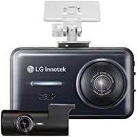 LG Dash Cam - 2 Channel Front/Rear 1920 x 1080 High-Res Dashboard Cameras, Mini Audio/Video Recording Dashcam Blackbox with 3.5 Inch Screen, 3G Motion and Accident Sensor, GPS, 64 GB Micro SD Card