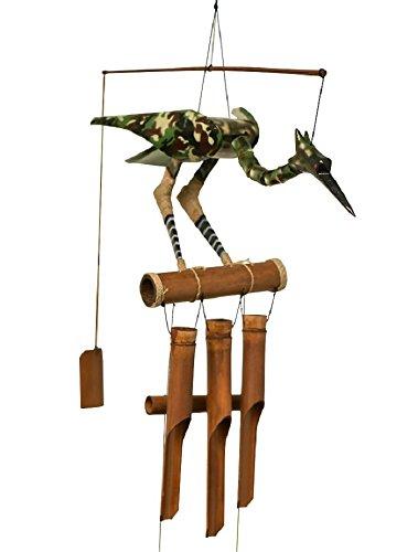Cohasset Gifts 249GC Cohasset Camo Bobbing Head Bird Bamboo Wind Chime
