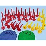 Alphabet & Number Dough Stampers - Uppercase