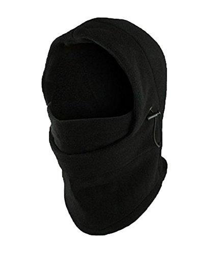 Leegoal Multifunction Fleece Double Layers Warmer Balaclava Ski Sport Face Mask,Black (Layer Balaclava)