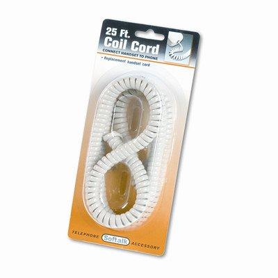 Coiled Phone Cord, Plug/Plug [Set of 2]