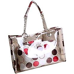 RoseSummer Bag in Bag Women Sweet Jelly Transparent Clear Girl Handbag Tote Shoulder (Dot)