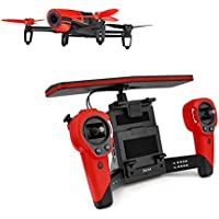 Parrot Bebop Quadcopter Drone with Sky Controller Bundle (Red) (Certified Refurbished)