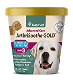 NaturVet - ArthriSoothe-Gold - Level 3 Advanced Joint Care - Supports Connective Tissue, Cartilage Health & Joint Movement - Glucosamine, MSM, Chondroitin & Green Lipped Mussel - 70 Soft Chews