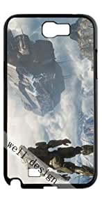 Halo game HD image case for Samsung Galaxy Note 2 N7100 black + Gift