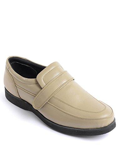 Chaussure De Confort Réglable En Cuir Hommes Real