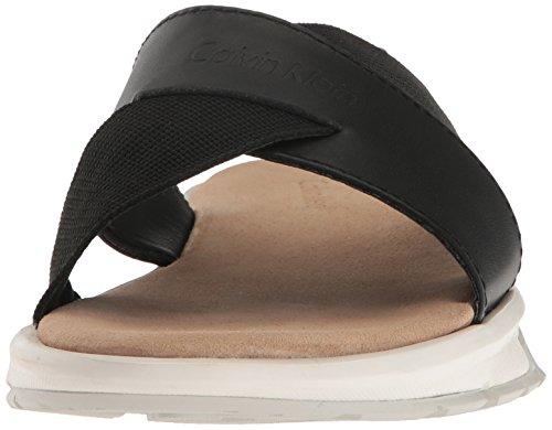 Nappa Klein Black Sandal Flat Palmiro Calvin Men's qtgnFpdqA