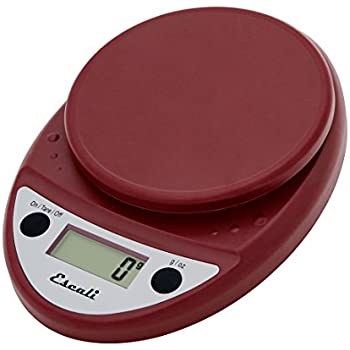 Escali Primo Digital Scale, Warm Red