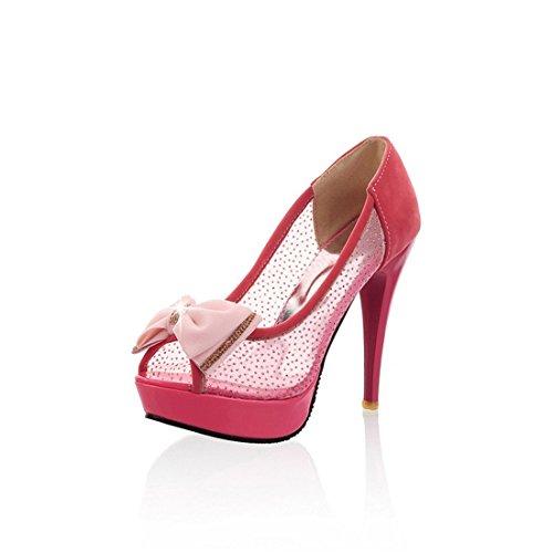 Zapatos de Tacón/La Primavera y el Verano, Pescado, Impermeable y Transpirable Racor Hembra de Taiwán arranca correctamente con el Alto-Heel Shoes gules