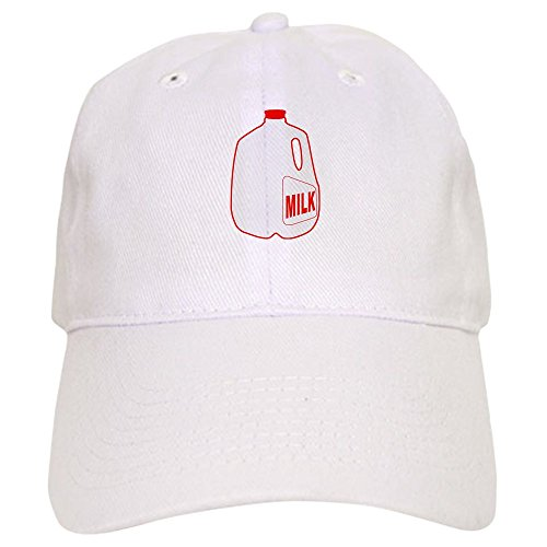 CafePress - Milk Jug - Baseball Cap with Adjustable Closure, Unique Printed Baseball Hat White ()