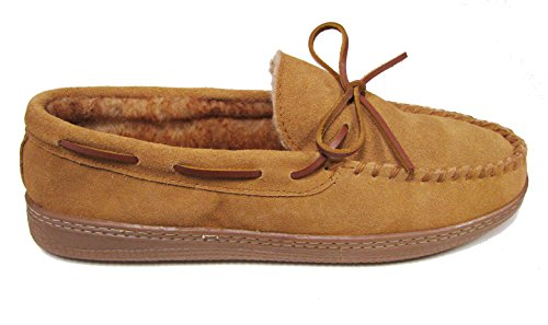 Fur Cinnamon Moccasin Club Mens Slippers Faux Room qYz4I