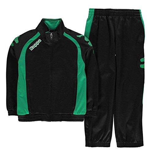Kappa Junior Boys Bolzano Tracksuit Black/Green 11-12 (LB)