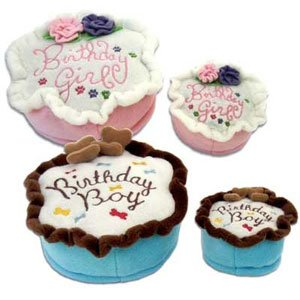 Haute Diggity Dog Birthday Girl Cake Chew Toy - - Kids Haute