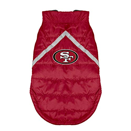 (NFL San Francisco 49ers Pet Puffer Vest, Small)