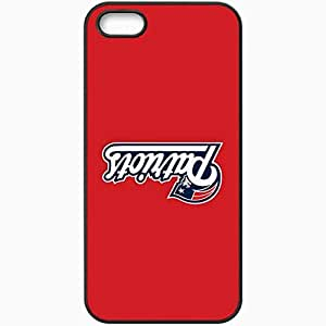 Personalized iPhone 5 5S Cell phone Case/Cover Skin Nfl New England Patriots 6 Sport Black by mcsharks