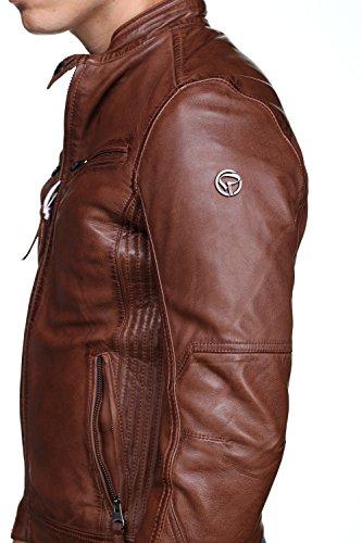 3347ee0a597a Redskins - Blouson en Cuir Lynch Casting H17 Cognac - Couleur Marron -  Taille XL  Amazon.fr  Vêtements et accessoires