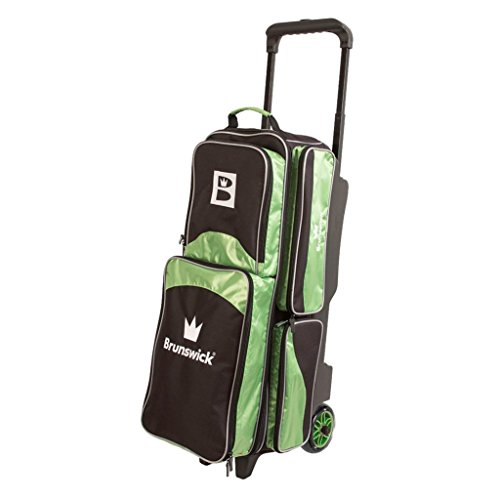 Brunswick Edge Triple Roller Bowling Bag, Lime Review