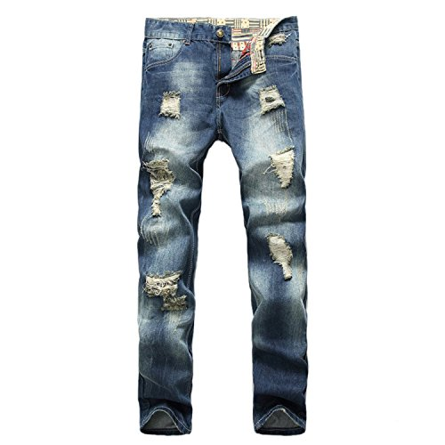 E.YUE Jeans-Herren Slim Fit Basic Style Stretch-Denim Jeans-Hose#928-1