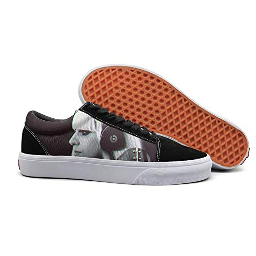 NICESSHOE Lady-Cool-gaga-Poker-face- Men's Canvas Shoes Lace Up Shoe]()