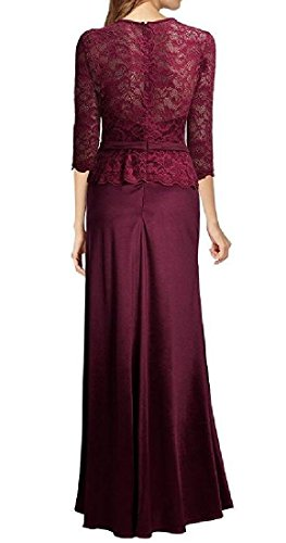 Bridesmaid Red Tuxedo Coolred Neck Dress Wine Round Women Long Maxi Elegant Z00q5wxv