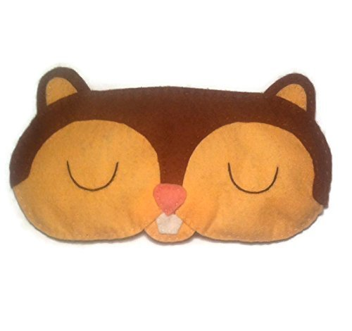 Cute Felt Chipmunk Sleep Mask -