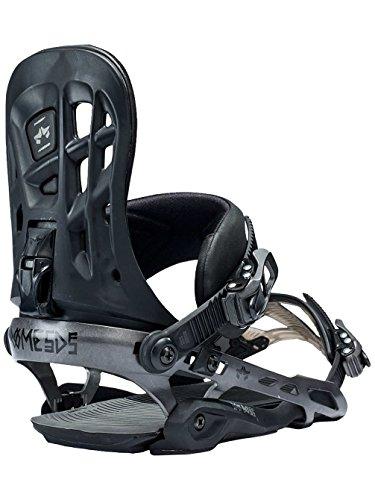 Rome Snowboards 390 BOSS Snowboard Bindings, Black, Small/Medium
